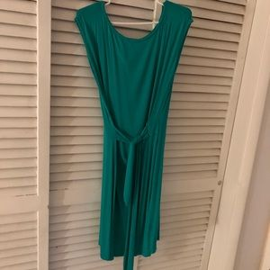 Green Boston proper wrap dress
